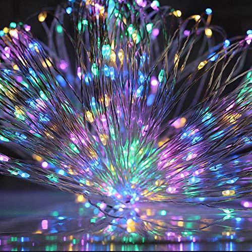 Luces de cadena LED de batería, utilizadas para la decoración de la fiesta de guirnaldas de Navidad Árbol de Navidad luces de hadas intermitentes A2 5m50 leds batería