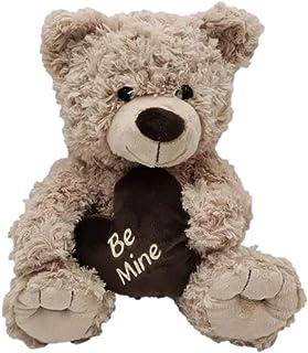 Tilly Teddy Bear Beige with Heart Be Mine 24cm Soft Plush Toy