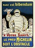 Metal Sign Michelin Nunc Est Bibendum 1910S O Galop A4 12x8 Aluminium...