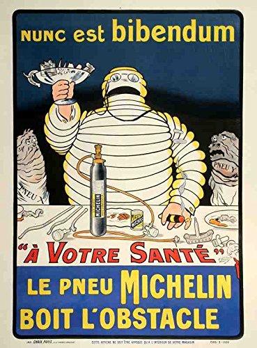 Metal Sign Michelin Nunc Est Bibendum 1910S O Galop A4 12x8 Aluminium