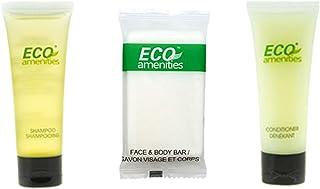 ECO amenities 3-Piece Mini Shampoo, Hotel Sized Conditioner, Travel Sized Hotel Soap Bars per Set 150pcs (50 Toilet Bags) ...