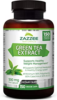 Sponsored Ad - Zazzee Green Tea Extract, 150 Veggie Caps, Potent 20:1 Extract, 10,000 mg Strength, Minimum 98% Polyphenols...