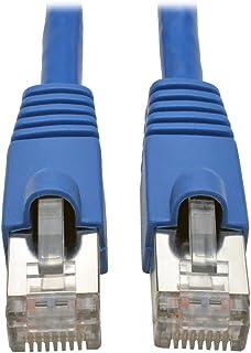 كابل توصيل STP محمي من شركة تريب لايت Cat6a Snagless محمي ، 10G 25ft. N262-025-BL