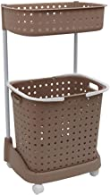 SHAFIRE Laundry Basket Plastic Cloth Storage Laundry Basket (Brown)