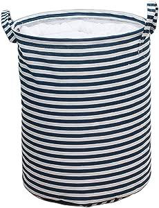 TIANLONG Storage basket Dirty Hamper Storage Basket Large Clothes Toy Blue Stripes