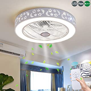 Ventiladores De Techo Con 72W Lámpara Ventilador De Techo Con Luces LED Control Remoto Regulable Ultra Silenciosa Para Ventilador Dormitorio De Sala Moderna Habitación Para Niños Iluminación