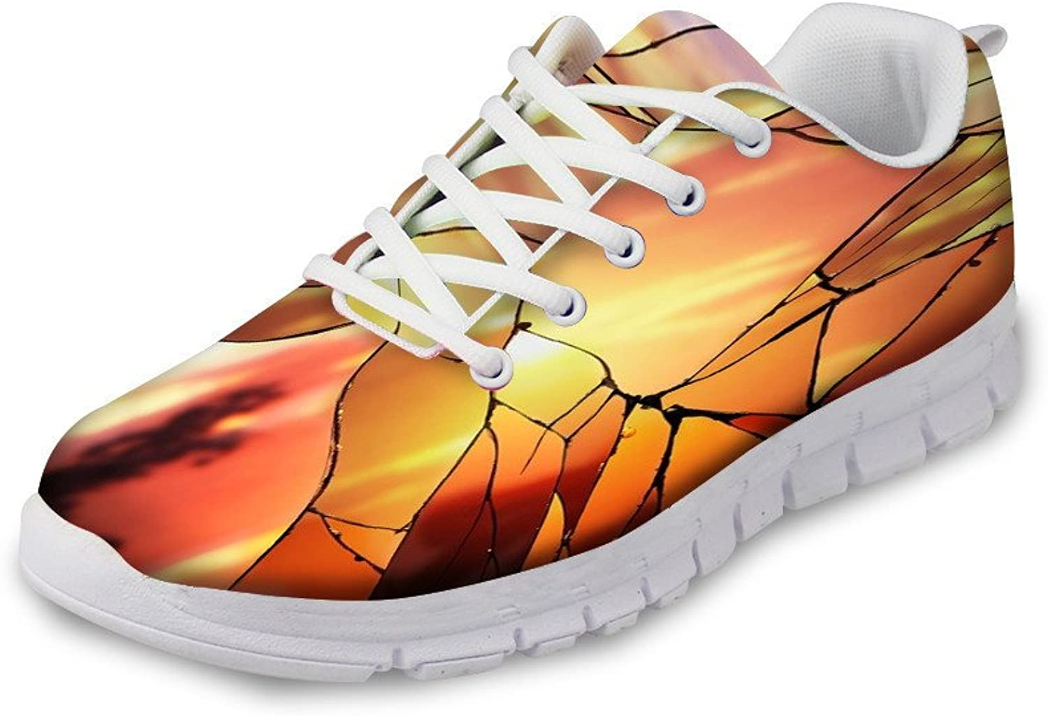 NAYINLAN Women Running shoes 3D Novelty Print Breathable Mesh Canvas Sneakers