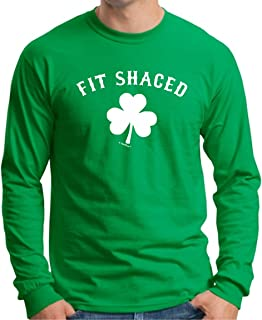 St Patricks Day Fit Shaced Long Sleeve T-Shirt & Fit Shaced Can Coolie Bundle