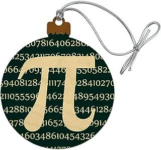 GRAPHICS & MORE Pi Math Geek Nerd 3.14 Wood Christmas Tree Holiday Ornament