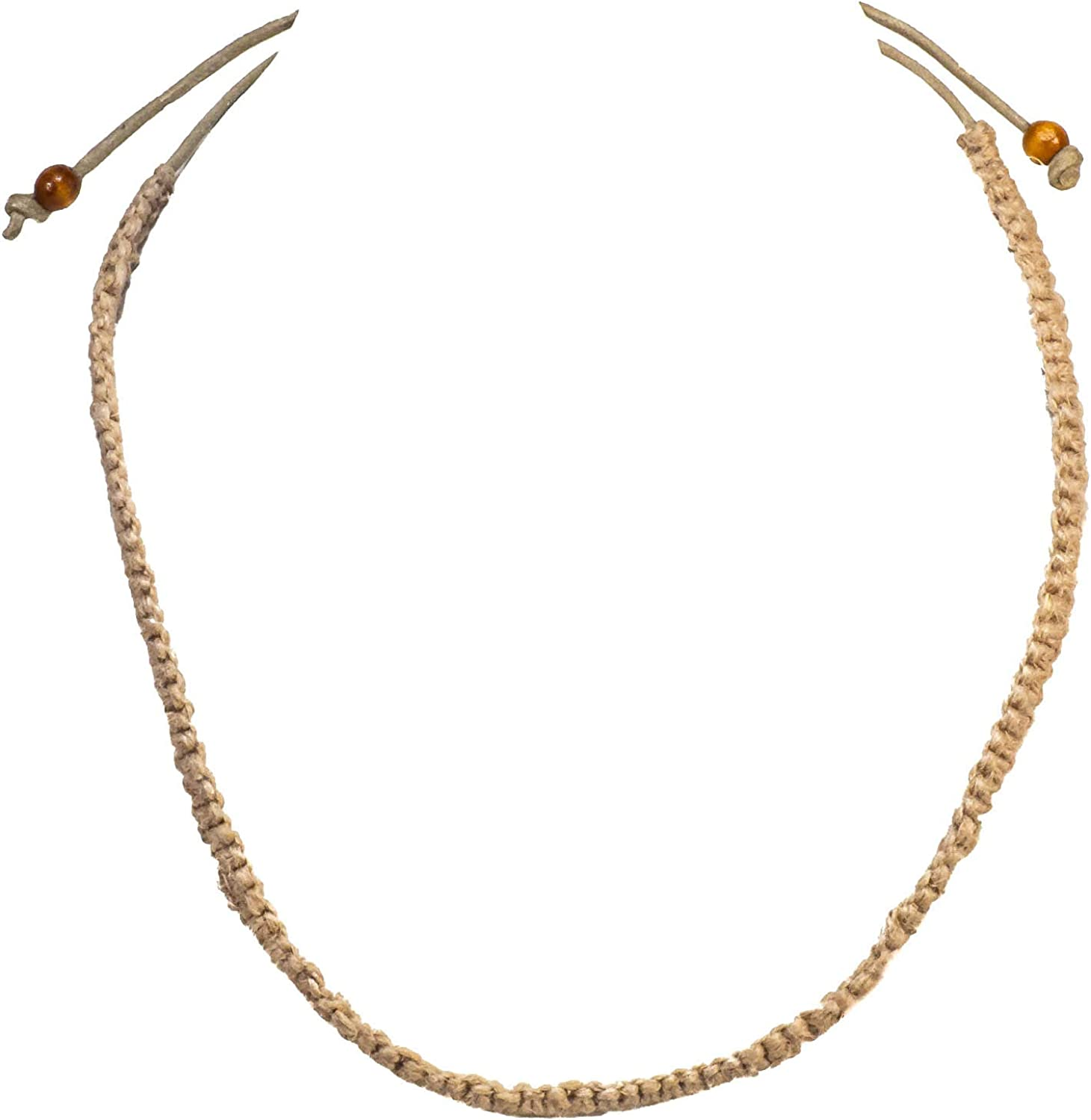 BlueRica Childrens Braided Hemp Cord Choker Necklace with Pull Tie