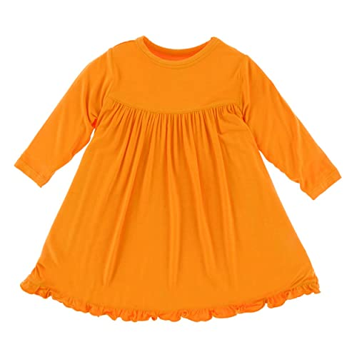 2444bd6f60167 Kickee Pants Little Girls Classic Long Sleeve Swing Dress