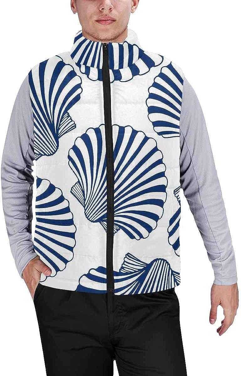 InterestPrint Men's Lightweight Sleeveless Jacket for Travel Hiking Running Running White Horse