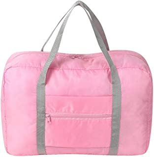 Folding Travel Storage Bag, Portable Luggage Tote Bag Waterproof Clothes Bag for Men Women Travel Camping Hiking(Pink)
