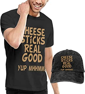 Cheese Sticks Real Good Fashion Men's T-Shirt and Hats Youth & Adult T-Shirts