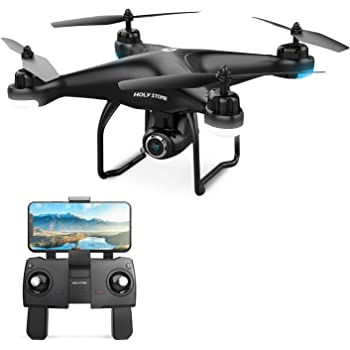 Holy Stone HS120D FPV Drone with Camera for Adults 2K 1080p HD Live Video and GPS Return Home, RC Quadcotper Helicopter for Kids Beginners 18 Min Flight Time Long Range with Follow Me Selfie Functions