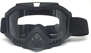 Aooaz Removable Nose Pad Riding Goggles Face Goggles Helmet Goggles Motorcycle Goggles