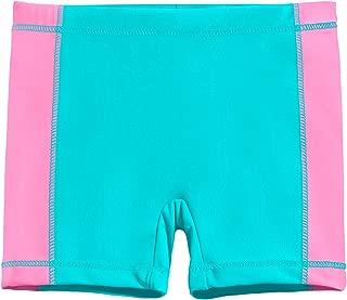City Threads Girls' Swimming Bottom Boy Short with Side Panels UPF50+ Rash Guard Swim Made in USA
