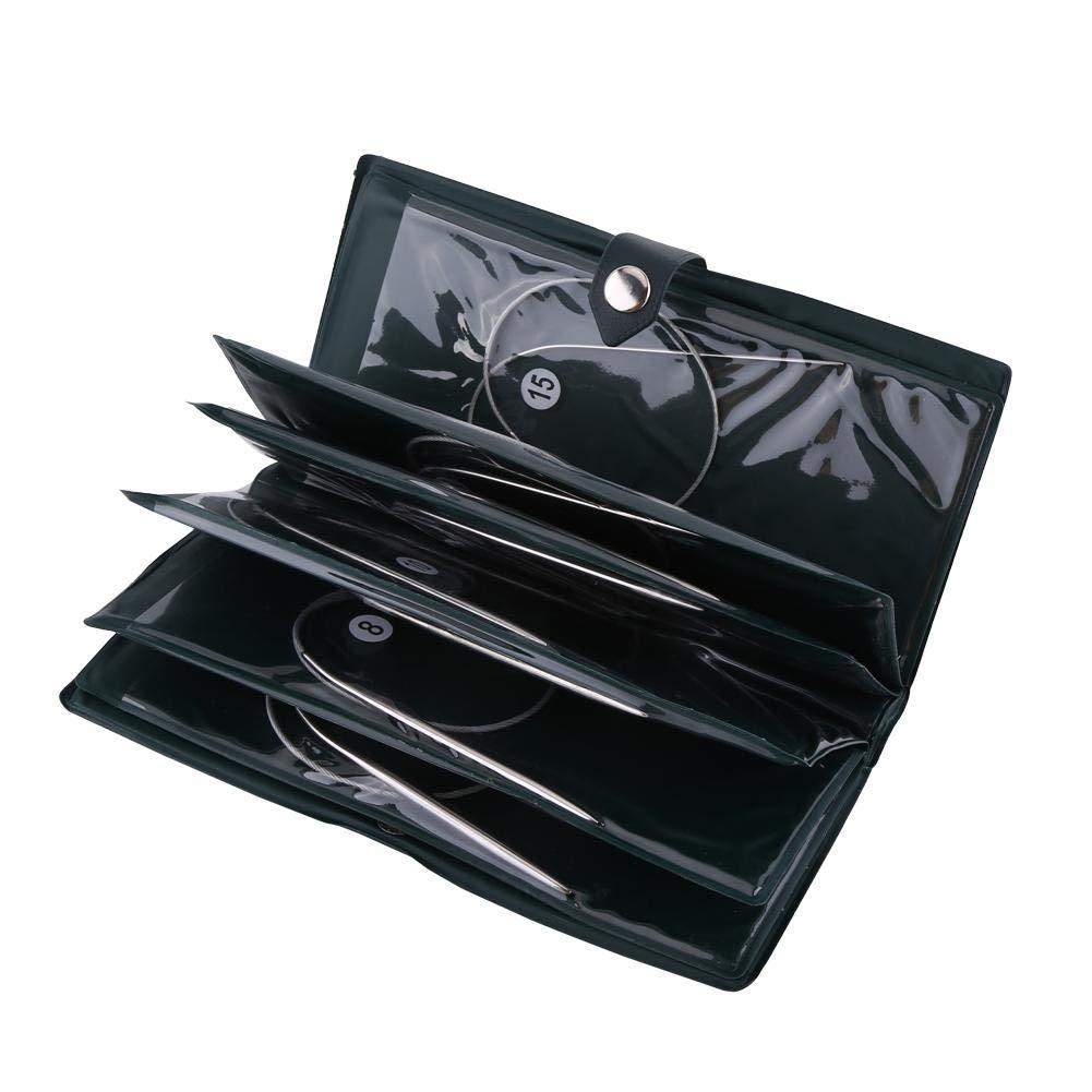 Agujas circulares de acero inoxidable, herramientas de tejer de acero inoxidable, gancho, accesorios de manualidades: Amazon.es: Bricolaje y herramientas