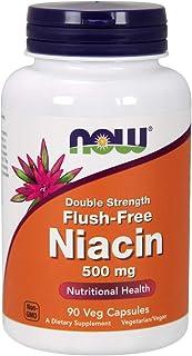 Now Foods Niacina Flush-Libre 500 mg (Double Strength) 90 Unidades 120 g