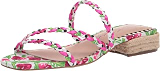 Betsey Johnson Women's GROVEE Heeled Sandal, CHERRY MULTI, 9.5