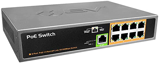 BV-Tech 9 Port PoE+ Switch (8 PoE+ Ports | 1 Uplink Port) – 120W – 802.3af/at