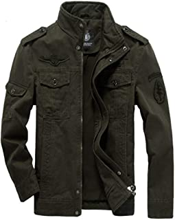 HNOSD Winter Cargo Plus Size Casual Man Jackets Army Clothes Mens Green Khaki 3 Colors Military Jacket