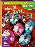 Heitmann Eierfarben Set Silber und Glitzer