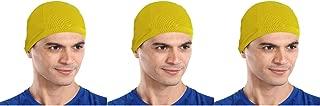 The Blazze Cotton Helmet Cap (Free Size, Yellow+Yellow+Yellow)