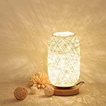 Uonlytech LED Rattan Table Lamp Adjustable USB Decorative Night Light Decoration Lamps Bedside Lamp for Xmas Wedding Birth...