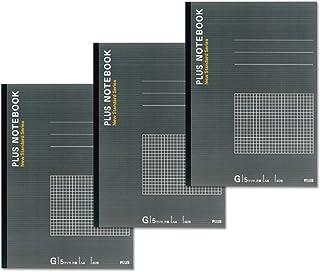 プラス ノート A4(1号)G罫5mm方眼40枚 3冊入 NO-204GS-3P 76-755