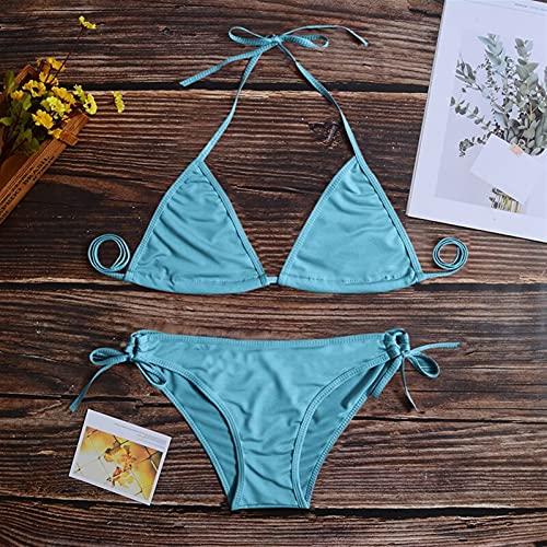 GPQHSM Bikini Neon Green Neon Bikini 2021 Micro Bikini Set Bañadores Push Up Swimwear Mujer Biquini Bañera Bañador Traje de baño Femenino (Color : Color 7, Size : Size Fits All)