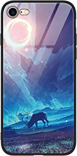 ZhuoFan iPhone 8 Plus / 7 Plus Case, [Anti-Scratch] Shockproof Patterned Tempered Glass Back Cover Case with Soft Silicone...