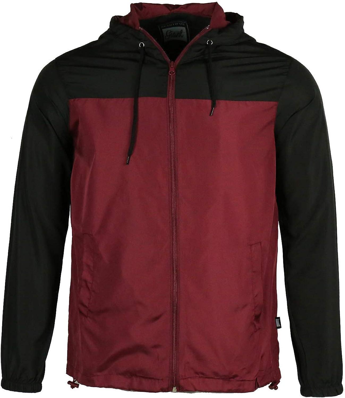 Men's Drawsing Windbreaker Regular fit long sleeve Lightweight School Fashion Trenchcoat