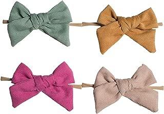 BEAMIO Baby Nylon Headbands Big Hairbands Hair Bow Elastics for Baby Girls Newborn Infant Toddlers Kids