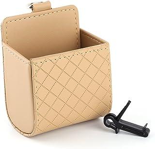 Qiilu Auto Universal Aufbewahrungstasche Tasche Telefon Mod Sun Glas Box Halter Pocket Organizer Beige