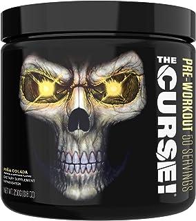 JNX Sports The Curse! Pre Workout Supplement - Intense Energy & Focus, Instant Strength Gains, Enhanced Blood Flow - Nitric Oxide Booster with Creatine & Caffeine - Men & Women | Pina Colada | 50 SRV