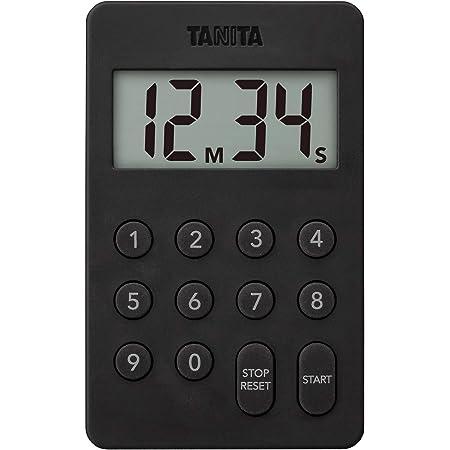 タニタ キッチン タイマー マグネット付き デジタルタイマー 100分計 ブラック TD-415 BK