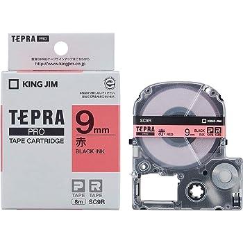 キングジム テープカートリッジ テプラPRO 9mm SC9R 赤
