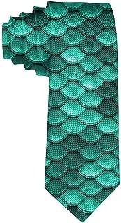 Corbata formal de corbata de seda con escamas de pez sirena verde ...