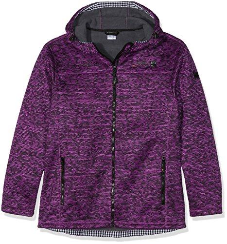 DEPROC-Active Sweater/Strickfleece Jacke WHITEFORD Femme, Violet (Violett), 48