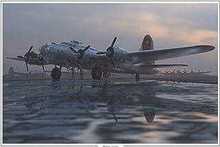 Aluminum Overcast B-17 Flying Fortresses Plane Travel Art Print Poster by Adam Burch (24