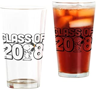 CafePress Snoopy Class Of 2018 Pint Glass, 16 oz. Drinking Glass
