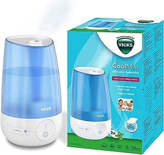 Vicks Cool Mist Ultrasone Bevochtiger (stil, voor een betere nachtrust, om hoesten en verkoudheidsverschijnselen te verlic...
