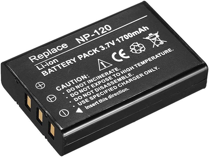 Docooler Reemplazo de Respaldo de batería Recargable NP-120 1700mAh para videocámaras Ordro Andoer D395 / AC3 / AC5