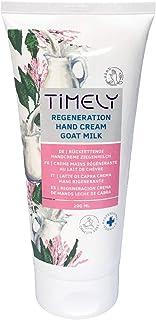 Timely - Crema de manos hidratante y regeneradora con leche de cabra 200 ml