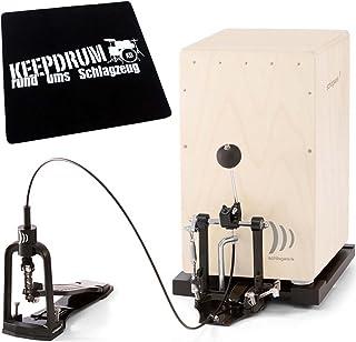 Cap 100cajón Pedal Soporte eléctrica con funda y placa de suelo Keepdrum sitzpad CP01