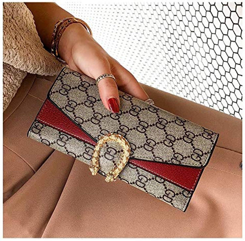 Nanih Home Home Home Damen Brieftasche Lange Schnalle 30% Brieftasche Europa und die Vereinigten Staaten Wind große Kapazität Handtasche Multi-Card-Kartenpaket zweiteilig (Farbe   rot) B07KRQLCY5 9c64ca