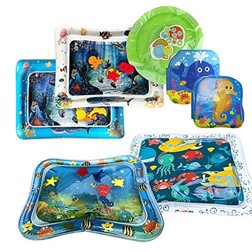Best Price Tummy Time Baby Water Mat Infant Toy Inflatable Play Mat for Newborn Boy Girl Including 4...