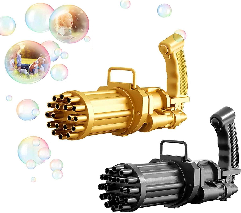 Sokiwi 2 PCS Automatic 18 Holes Cartoon Gun Bubble Makers, Fun G