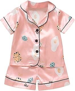 Julhold Child Kid Baby Boys Girls Cute Casual Cartoon Duck Dear Dog Star Leisure Keep Cotton Pajamas Outfits Set 0-5 Years